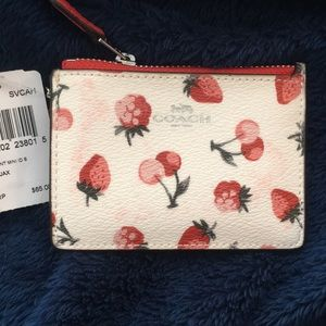 Coach Accessories - Coach Coated Canvas Fruit Print ID case